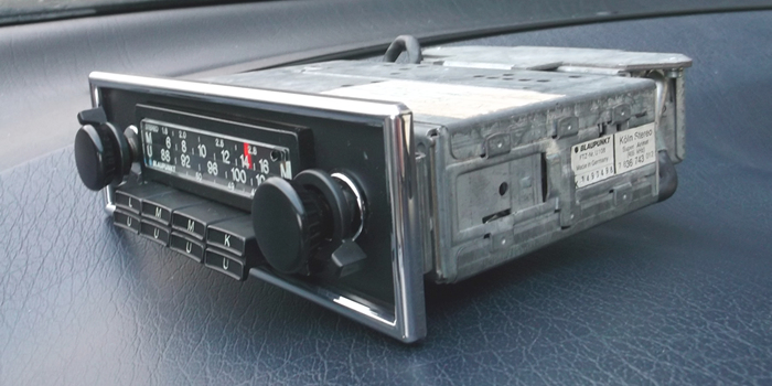 blaupunkt k ln stereo oldtimer autoradio 1976 mit asu teil chromblende rarit t ebay. Black Bedroom Furniture Sets. Home Design Ideas